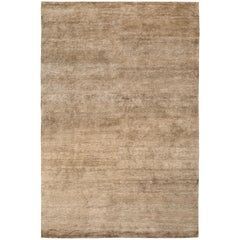 Bamboo Silk Bronze Hand-Knotted 10x8 Rug in Bamboo Silk by The Rug Company