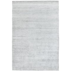 Bamboo Silk Flint Hand-Knotted 10x8 Rug in Bamboo Silk by The Rug Company
