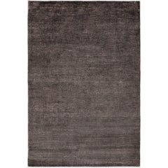 Bamboo Silk Graphite Hand-Knotted 10x8 Rug in Bamboo Silk by The Rug Company