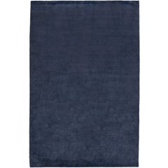 Bamboo Silk Lapis Hand-Knotted 10x8 Rug in Bamboo Silk by The Rug Company