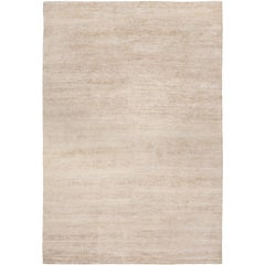 Bamboo Silk Pale Gold Hand-Knotted 10x8 Rug by The Rug Company