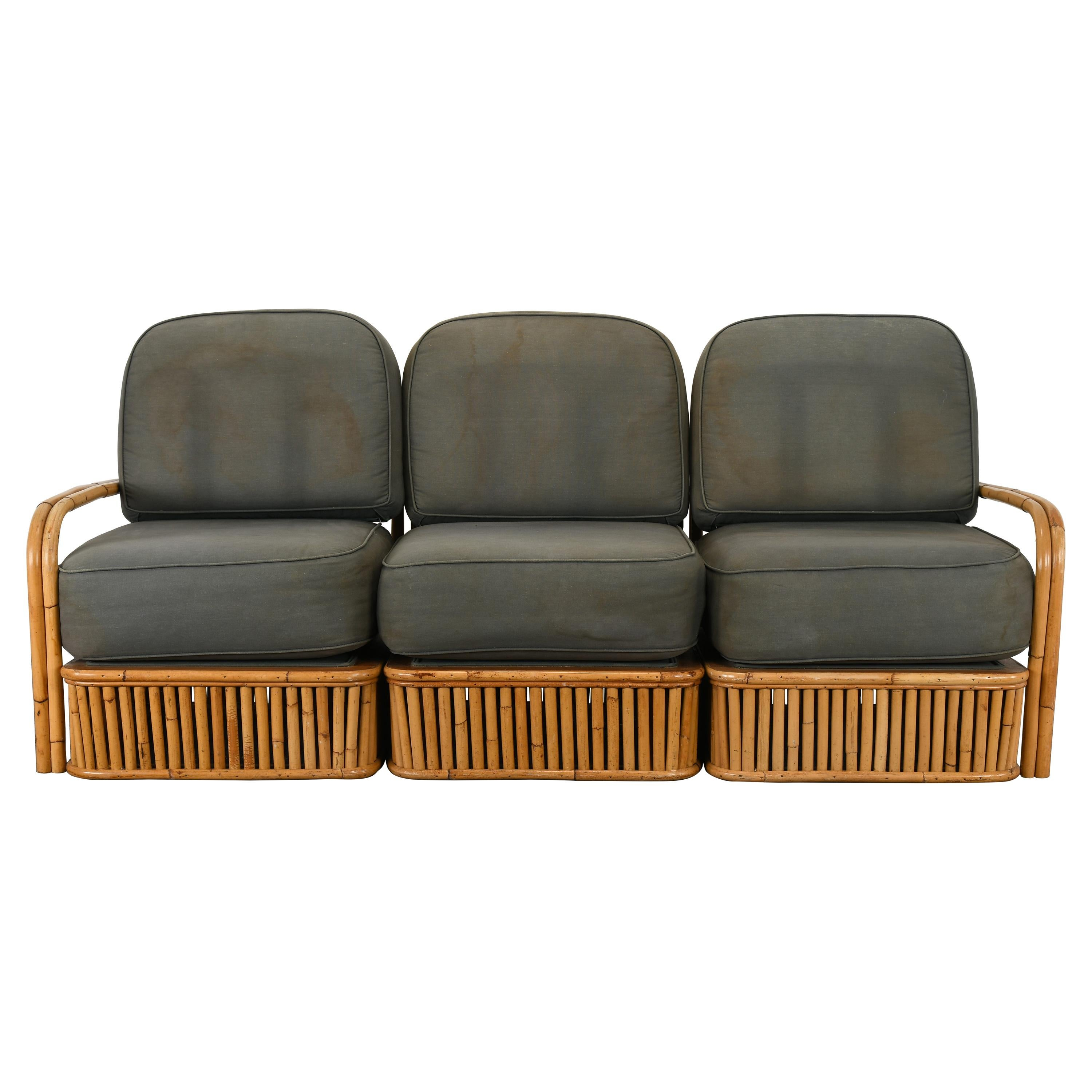 Bamboo Sofa by Ficks Reed, 1950s