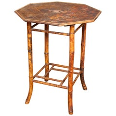 Bamboo Table 19th Century Lacquered