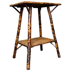 Bamboo Table, Side Table, Plant Table, Victorian Table, English