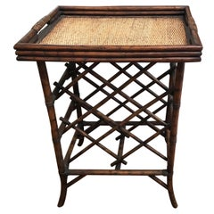 Bamboo Tray Top Wine Rack or Side Table