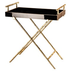 Bamboo Tray with Brass Stand