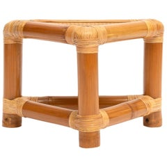 Bamboo Triangle Side Table