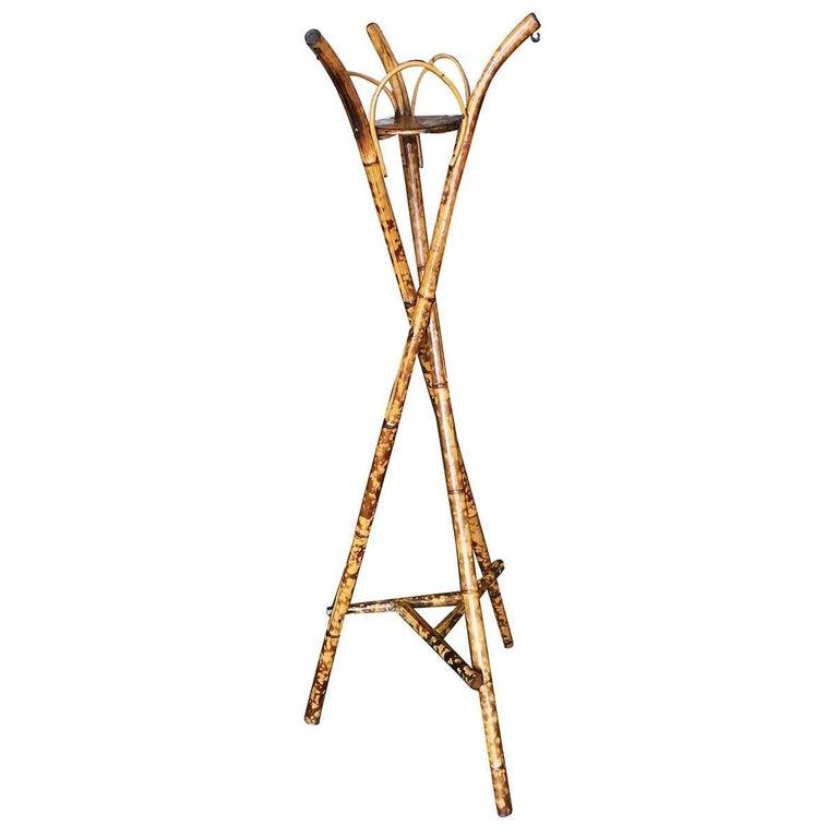 Restored Bamboo Tripod Planter Pedestal Floor Stand