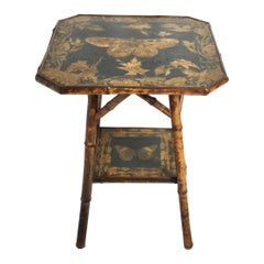 Bamboo Victorian Aesthetic Two Tier Butterfly Table