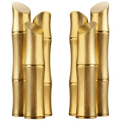 Bamboos Gold Set of 2 Bookends