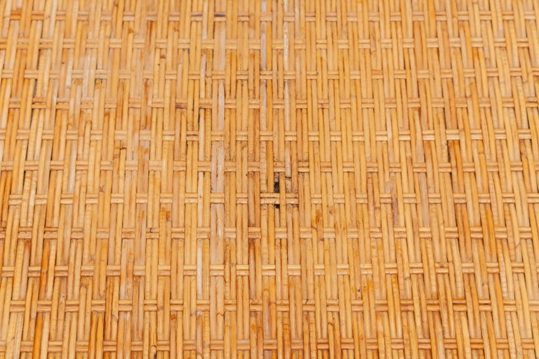 Bamboo, Woven Rattan Lounge Chairs, 1960s Designed by Dirk van Sliedrecht In Good Condition For Sale In Antwerp, BE