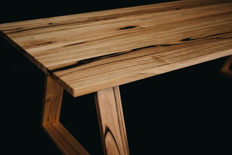 Modern Bambra Dining Table, Handcrafted in Tasmanian Messmate Hardwood For Sale