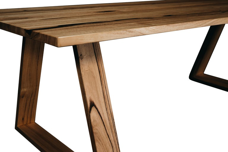 Oceanic Bambra Dining Table, Handcrafted in Tasmanian Messmate Hardwood For Sale