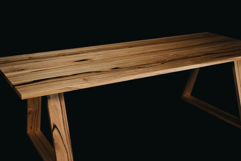 Hand-Carved Bambra Dining Table, Handcrafted in Tasmanian Messmate Hardwood For Sale