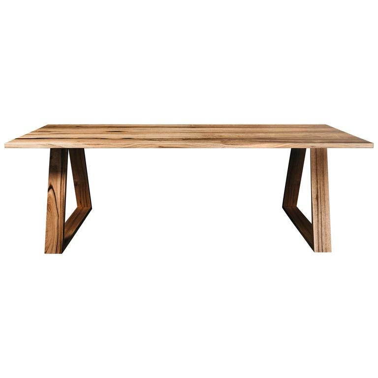 Bambra Dining Table, Handcrafted in Tasmanian Messmate Hardwood For Sale