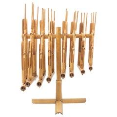 Bambu Sculpture Music Instrument, circa 1950