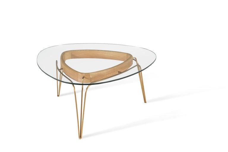 Modern Banano Occasional Table M, Natural Walnut Frame, Designed by Nigel Coates For Sale