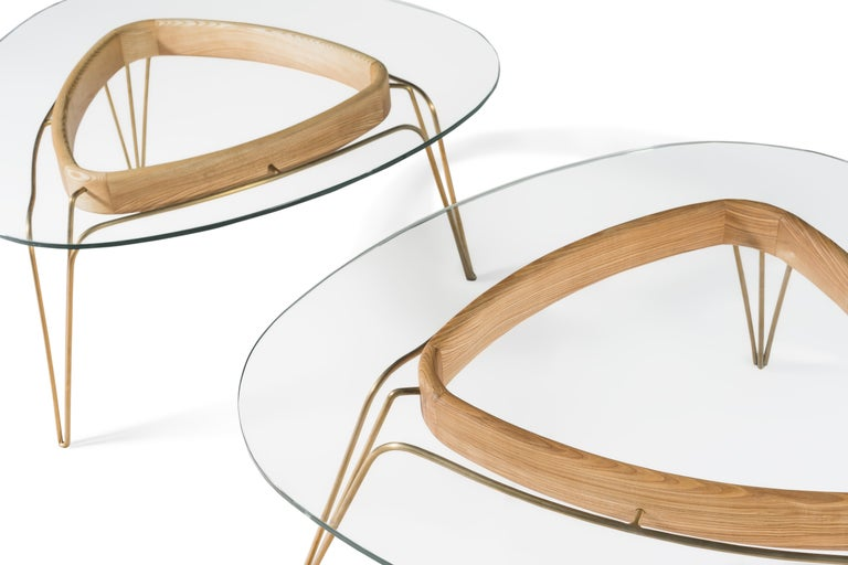 Banano Occasional Table M, Natural Walnut Frame, Designed by Nigel Coates In New Condition For Sale In London, GB