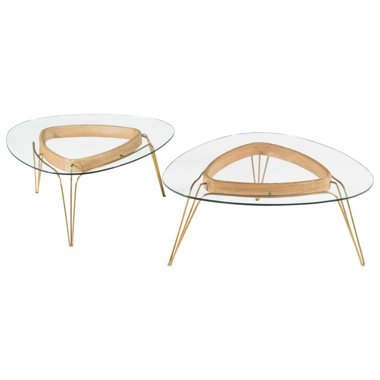 Banano Occasional Table M, Natural Walnut Frame, Designed by Nigel Coates For Sale