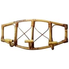Bamboo Coat Rack Midcentury