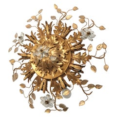 Banci Firenze Florentine Ceiling Light with Murano Flowers