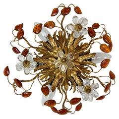 Banci Firenze Florentine Murano Glass Flushmount