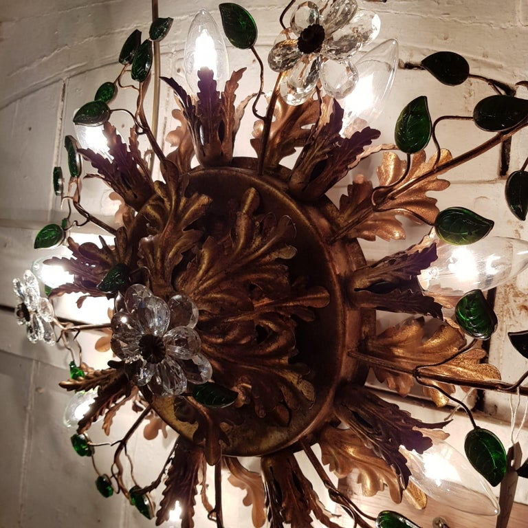 Banci Firenze Italian Florentine Ceiling Light For Sale 8