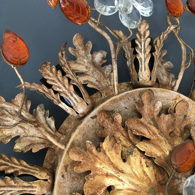 20th Century Banci Firenze Italian Florentine Ceiling Light For Sale