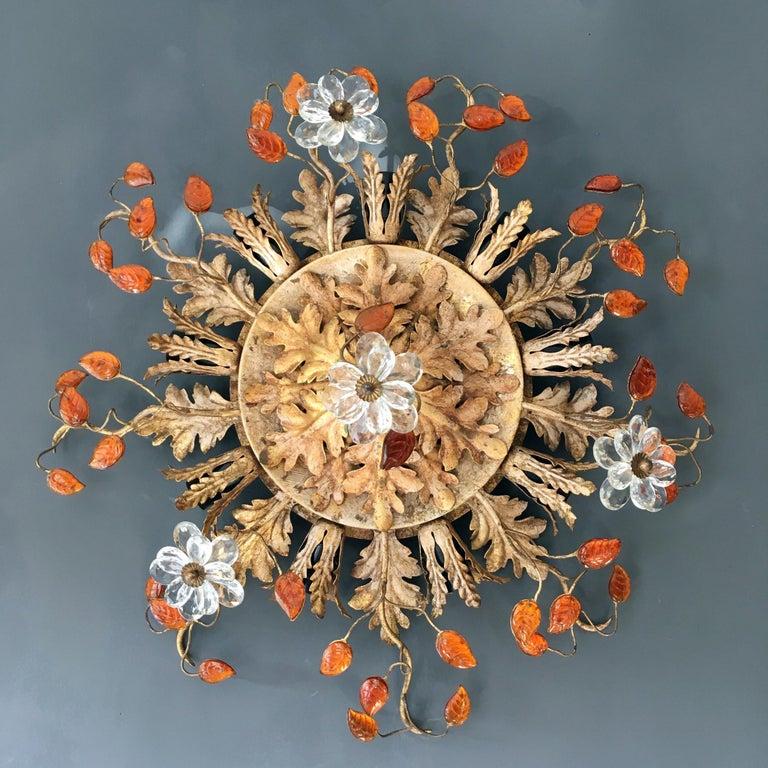 Banci Firenze Italian Florentine Ceiling Light For Sale 2