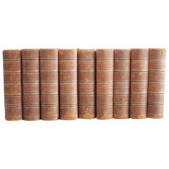 Bancroft Works Antique Leather Bound Books Volume 1-10