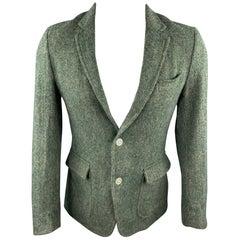 BAND OF OUTSIDERS Size 36 Green Herringbone Wool Sport Coat
