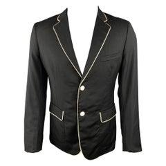 BAND OF OUTSIDERS Size 38 Black Wool Notch Lapel Sport Coat / Jacket