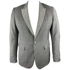 BAND OF OUTSIDERS Size 42 Grey Nailhead Wool Peak Lapel Sport Coat