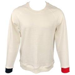 BAND OF OUTSIDERS Size L Cream Cotton Crew-Neck Sweatshirt