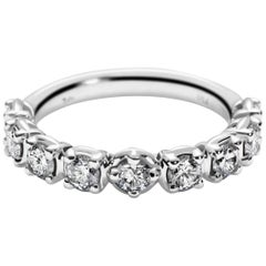 Band Ring with Traceable Diamonds in 18 Karat White Gold by Rocks for Life