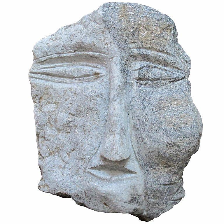 Banded Granite Head by Ted Ludwiczak For Sale