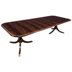 Banded Mahogany Georgian Style Dining Table by Leighton Hall
