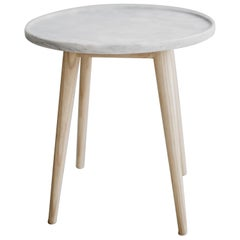 Bandeja ash wood and marble Side Table