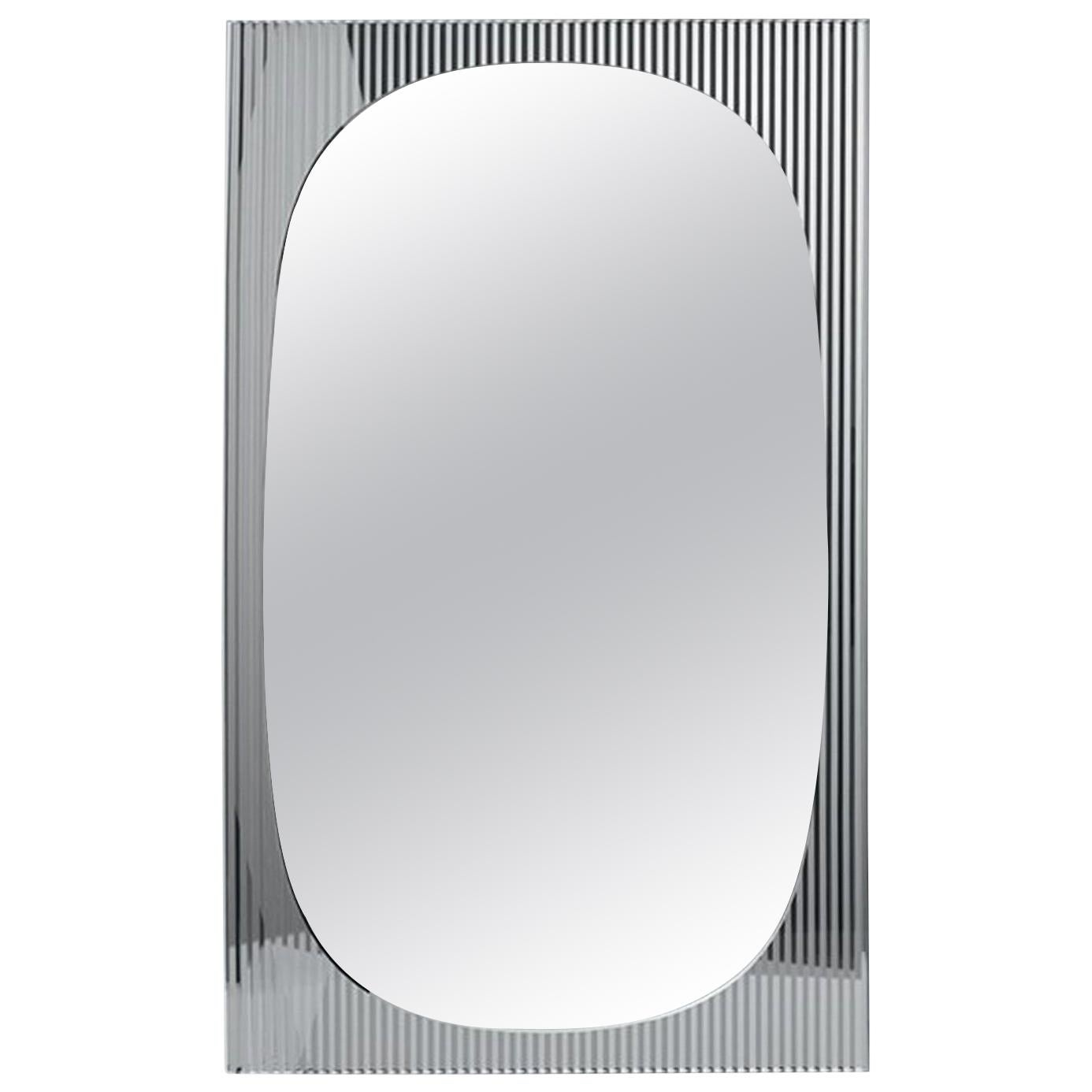 In Stock in Los Angeles, Bands Floor Mirror by Angeletti Ruzza, Made in Italy