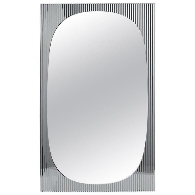 In Stock in Los Angeles, Bands Floor Mirror by Angeletti Ruzza, Made in Italy For Sale