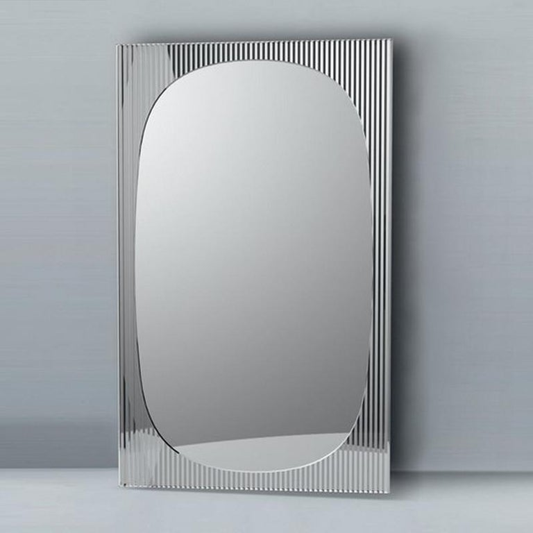 Modern In Stock in Los Angeles, Bands Floor Mirror by Angeletti Ruzza, Made in Italy For Sale