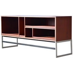 Bang & Olufsen Stereo Media Music Cabinet in Brazilian Rosewood and Aluminum