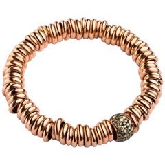 Bang Silver Bracelet / Cognac Rose Gold