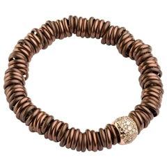 Bang Titanium Bracelet / Diamonds Rose Gold