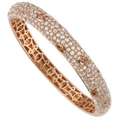 Bangle in 18K Rose Gold with Diamond