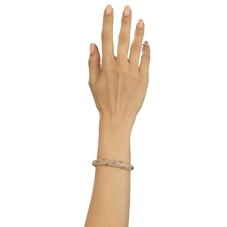 Women's Bangle in 18K Rose Gold with Diamond