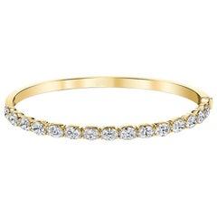 Bangle with East-West Oval Diamond