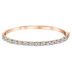 Bangle with East-West Oval Diamonds