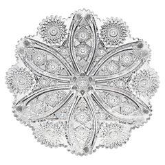 Bangor Pattern Tray by Jewel Cut Glass Company