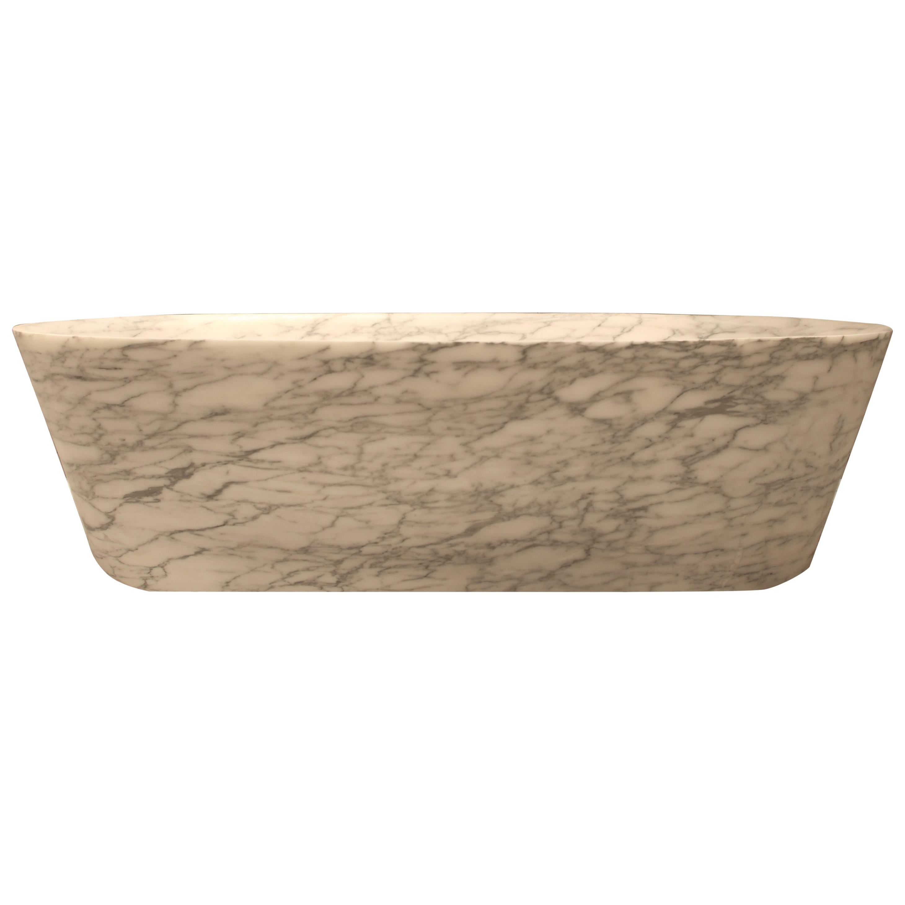 """Banheira"" Bathtub Circle or Oval Made of Marble Customizable by Pibamarmi"